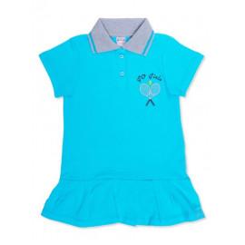 Платье поло для девочки Теннис, бирюзовый