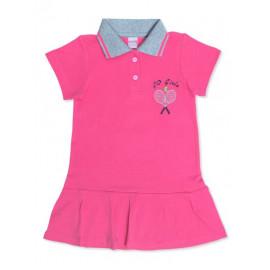 Платье поло для девочки Теннис, розовый