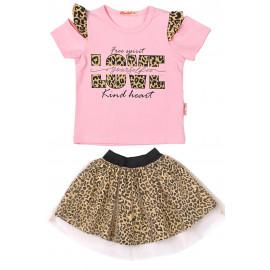 Костюм для девочки Леопард, розовый