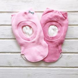 Шлем трехслойный с ушками, светло-розовый