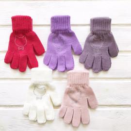 Перчатки детские Кошечка р-р 5-6 лет, микс