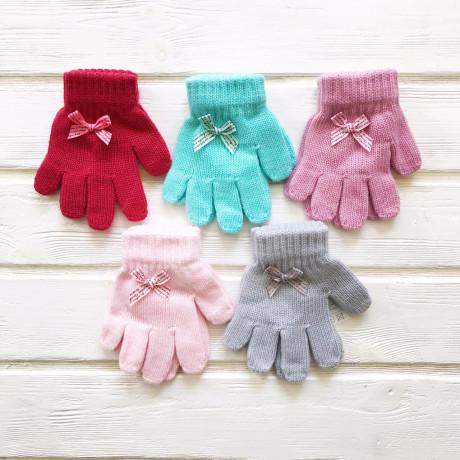 Перчатки детские Бантик р-р 3-4 года, микс