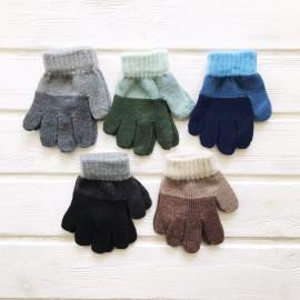 Перчатки детские Полоса р-р 3-4 года, микс