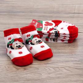 Носки детские Новогодние, белый