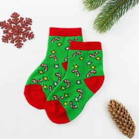 Носки детские махровые Волшебство, зеленый