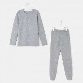 Комплект для девочки (термо), серый