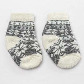 Носки детские шерстяные Снежинка, тёмно-серый