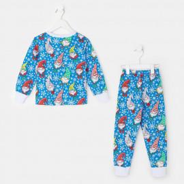 Пижама тёплая Домовенок, синий