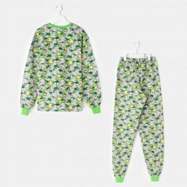 Пижама тёплая Вертолеты, зеленый