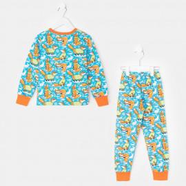 Пижама тёплая Лисы, голубой
