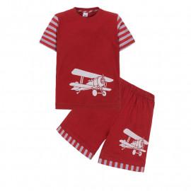 Костюм для мальчика Самолет, красный