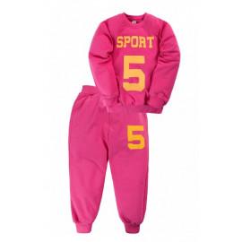 Костюм для девочки Спорт5, малиновый