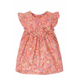 Платье для девочки Цветочки, оранжевый