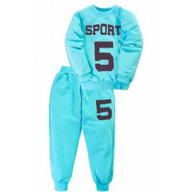 Костюм для мальчика Спорт5, бирюзовый