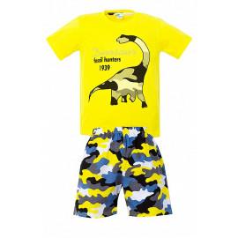 Костюм для мальчика Динозавр, желтый