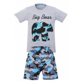 Костюм для мальчика Медведь, серый