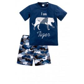 Костюм для мальчика Тигр, темно-синий