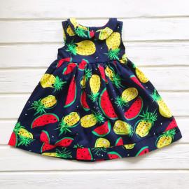 Платье для девочки Арбузы, темно-синий