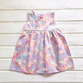 Сарафан для девочки Единороги, светло-розовый