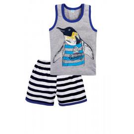 Костюм для мальчика Пингвин, серый
