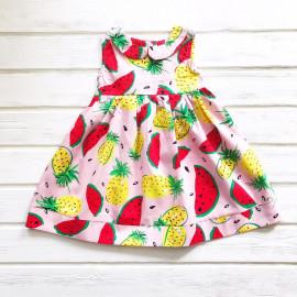 Платье для девочки Арбузы, розовый