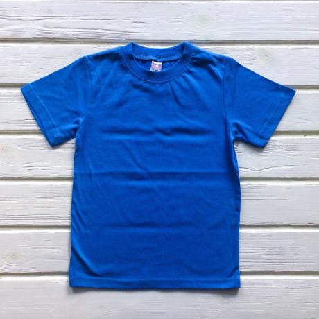 Футболка однотонная, голубой