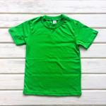 Футболка однотонная, зеленый