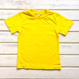 Футболка однотонная, желтый