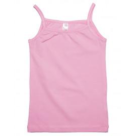 Майка для девочки на тонких бретелях, розовый
