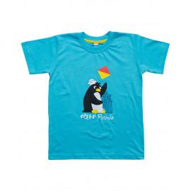 Футболка для мальчика Пингвин, бирюзовый
