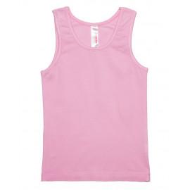 Майка для девочки на широких бретелях, светло-розовый