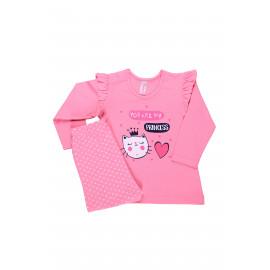 Комплект ясельный для девочки Кошечка, розовый