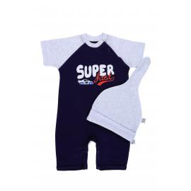 Комплект ясельный для мальчика Супер, синий