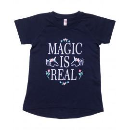 Футболка для девочки Магия, синий