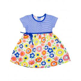 Платье для девочки Цветочки, синий
