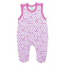 Полукомбинезон для новорожденных Зайки, розовый