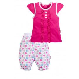Комплект ясельный для девочки Рюши, розовый