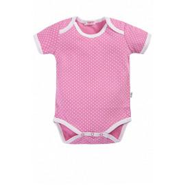 Боди для малышей Горох, розовый