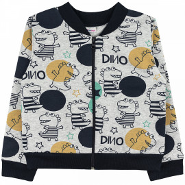 Куртка-бомбер  для мальчика Дино, серый