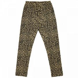 Легинсы для девочки Леопард, бежевый